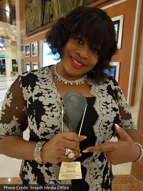 sinach-african-achievers-award
