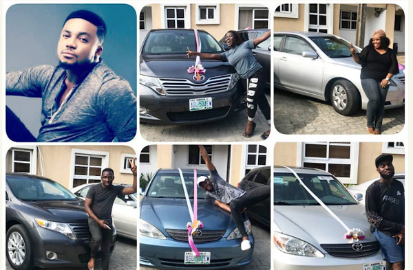 Tim Godfrey Gifts New Cars
