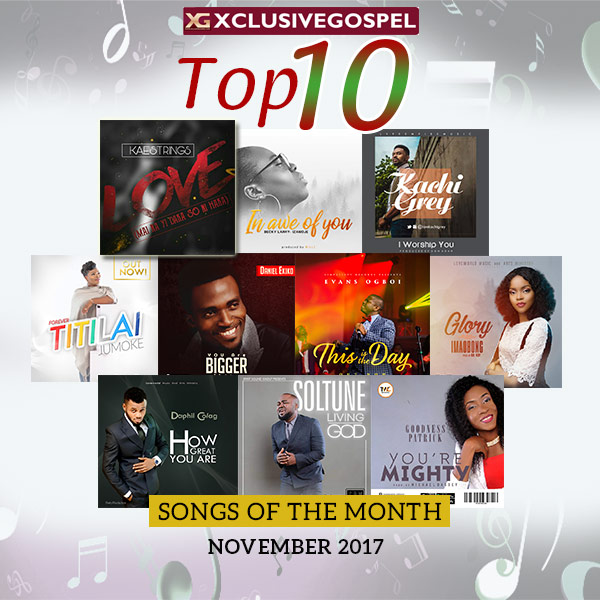 Top 10 Gospel Songs For The Month of November 2017